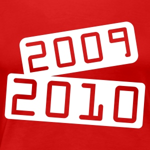 Rood 2010_tilted_board T-shirts - Vrouwen Premium T-shirt