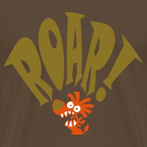 Brown Lil Roar Big Roar! Men's Tees - Men's Premium T-Shirt