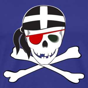 Cornish Skull & Crossbones - Men's Premium T-Shirt