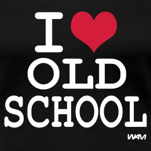Schwarz i love old school by wam T-Shirts - Frauen Premium T-Shirt