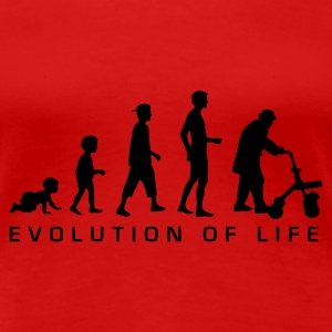 Rot evolution_life_man_b T-Shirts - Frauen Premium T-Shirt