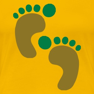DE-Footprints color - Frauen Premium T-Shirt