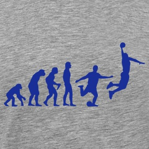 Ash Basketball Evolution T-Shirts - Men's Premium T-Shirt