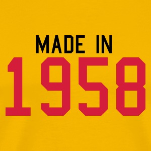 Yellow 1958 Men's Tees - Men's Premium T-Shirt