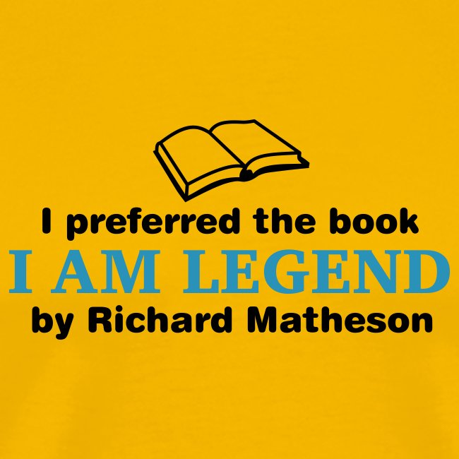 I Am Legend (Preferred Book) Various Colours