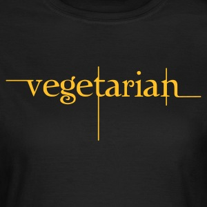 Chocolate vegetarian_font T-Shirts - Frauen T-Shirt