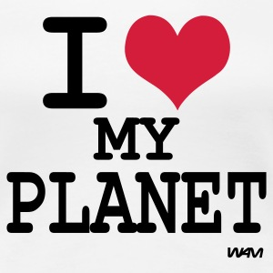 Wit i love my planet by wam T-shirts - Vrouwen Premium T-shirt