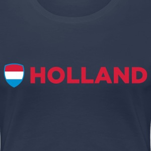 Navy Holland Emblem Side 1 (3c, NEU) Women's T-Shirts - Women's Premium T-Shirt