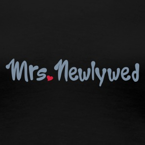 Schwarz Mrs Newlywed T-Shirts - Frauen Premium T-Shirt