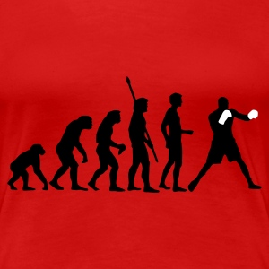 Rot evolution_boxen_b_2c T-Shirts - Frauen Premium T-Shirt