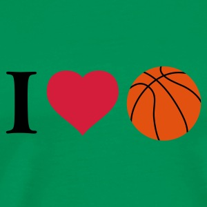 i_love_basketball_3c T-Shirts - Men's Premium T-Shirt
