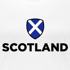 White Scotland Emblem Small (3c, NEU) Women's T-Shirts