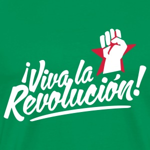 Khaki green revolution fist Men's T-Shirts - Men's Premium T-Shirt
