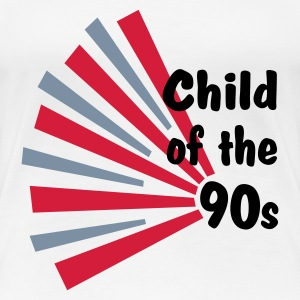 White Child of the 90s Women's T-Shirts - Women's Premium T-Shirt