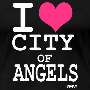 Schwarz i love city of angels (los angeles)  by wam T-Shirts - Frauen Premium T-Shirt