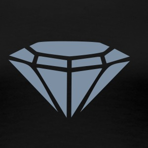 Sort Diamond T-shirts - Dame premium T-shirt