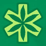 Motiv ~ Medizinisches Cannabis Shirt in grün