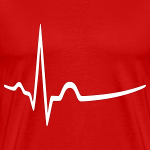 Burgundy red medicine - doctor - heartbeat Men's T-Shirts - Men's Premium T-Shirt
