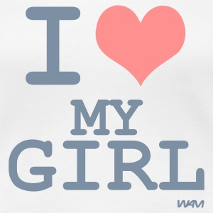 Blanco i love my girl by wam Camisetas - Camiseta premium mujer
