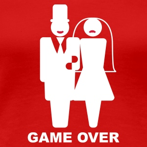 Rot Game Over T-Shirts - Frauen Premium T-Shirt