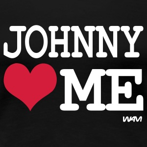 Noir johnny loves me by wam T-shirts - T-shirt Premium Femme