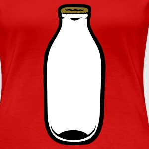 Red Milk Bottle Women's T-Shirts - Women's Premium T-Shirt