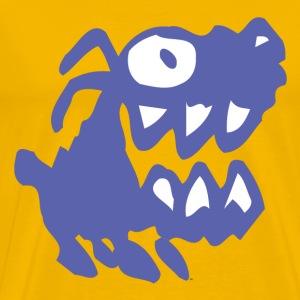 Yellow Bow Wow! Blue Cartoon Dog by Cheerful Madness!! Men's T-Shirts - Men's Premium T-Shirt