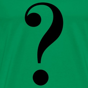 Moss green question mark Men's T-Shirts - Men's Premium T-Shirt