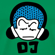 Moss green DJ blue Men's T-Shirts