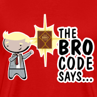Diseño ~ Camiseta Barney Stinson How i met your mother bro code - chico manga corta