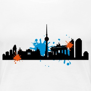 Weiß Skyline_Berlin_dirty T-Shirts - Frauen Premium T-Shirt