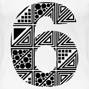 White  Women's number six 6 T-Shirts - Women's Premium T-Shirt