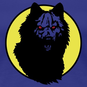 Royal blue werwolf_09_2a Women's T-Shirts - Women's Premium T-Shirt