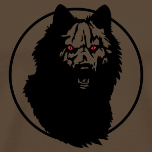 Brown werwolf_09_2 Men's T-Shirts - Men's Premium T-Shirt