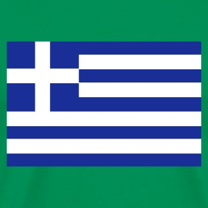Khaki green Greek Flag Men's T-Shirts - Men's Premium T-Shirt