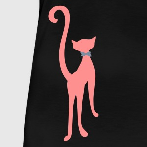 Schwarz retro cat silhouette by Patjila T-Shirts - Frauen Premium T-Shirt