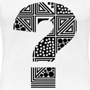 White question mark ?  Women's T-Shirts - Women's Premium T-Shirt