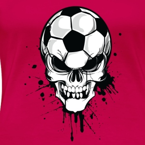 Rouge rubis soccer skull kicker ball football pirat T-shirts - T-shirt Premium Femme