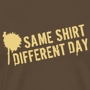 Brown Same shirt different day Men's Tees - Men's Premium T-Shirt