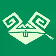 Design ~ Kiffender, leuchtender Hase (medium) schweres T-Shirt