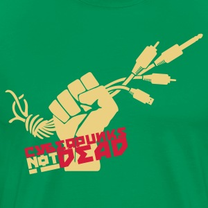 Bottlegreen Cyberpunks not dead T-Shirts - Männer Premium T-Shirt