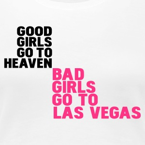 Wit bad girls go to las vegas T-shirts - Vrouwen Premium T-shirt