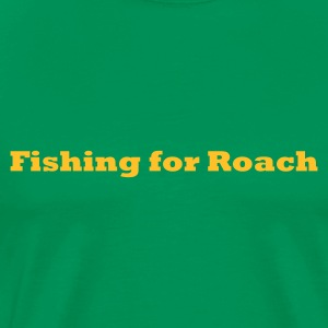 Fishing for Roach Fishing T-Shirt - Yellow Print - Men's Premium T-Shirt