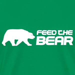 Bottlegreen Feed The Bear Men's T-Shirts - Men's Premium T-Shirt