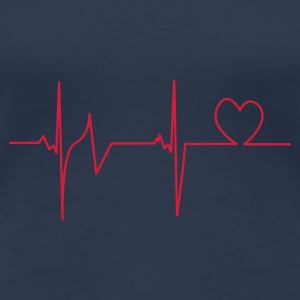 Navy heartbeat T-Shirts - Frauen Premium T-Shirt