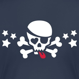 Navy bad skull with stars and tongue T-Shirts - Frauen Premium T-Shirt