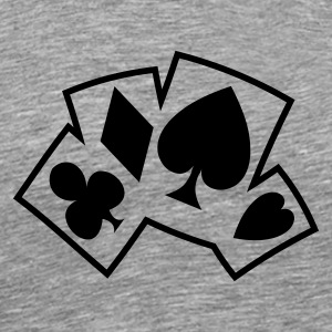 Cendre Carte Poker Color T-shirts - T-shirt Premium Homme