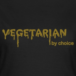 Chocolate Vegetarian by choice Women's T-Shirts - Women's T-Shirt