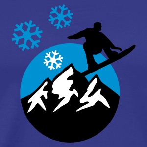 snowboard_mountains_c_3c T-shirts - Herre premium T-shirt