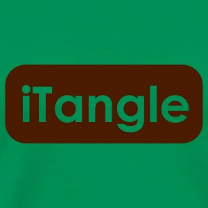 Khaki green iTangle Men's T-Shirts - Men's Premium T-Shirt